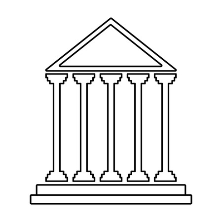 judicial: court building isolated icon vector illustration design Illustration