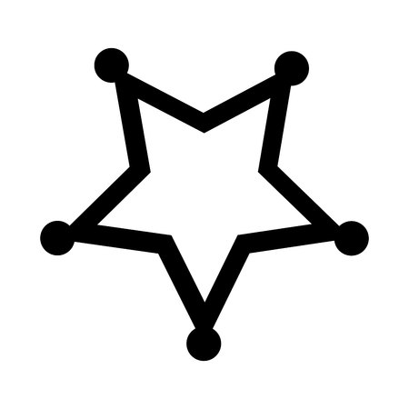 sherif: sherif star emblem icon vector illustration design