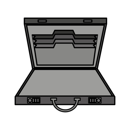 opened bag: business portfolio open isolated icon vector illustration design