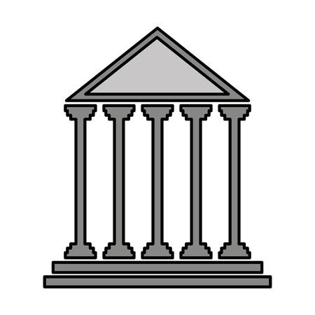 governmental: court building isolated icon vector illustration design Illustration