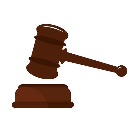 judge gavel: judge gavel isolated icon vector illustration design Illustration