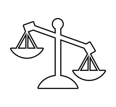 justice scale: scale balance justice icon vector illustration design