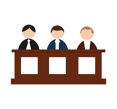 jurado: las personas del jurado aislado icono de ilustración vectorial de diseño