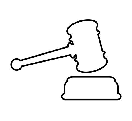 judge gavel isolated icon vector illustration design Illustration