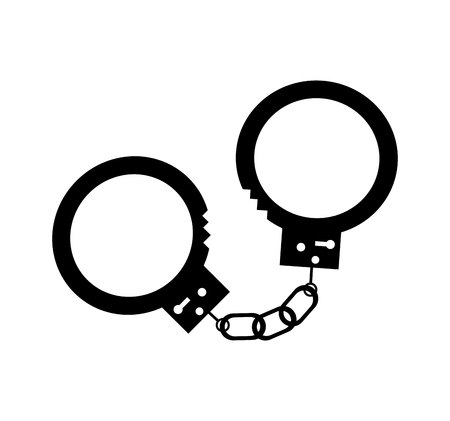 law handcuffs isolated icon vector illustration design Illustration
