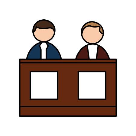 jurado: jury people isolated icon vector illustration design