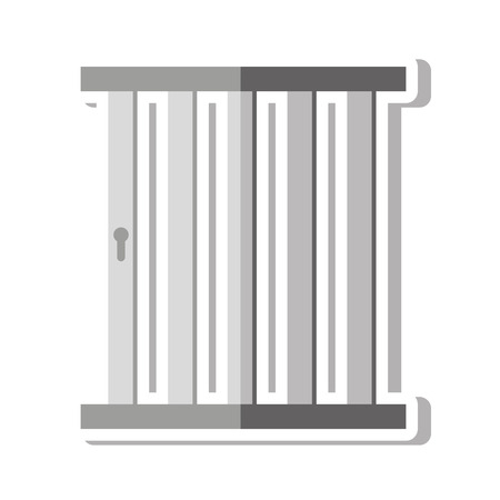 confined: jail gate door icon vector illustration design