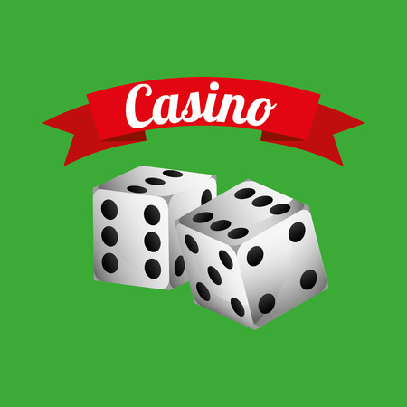 dices: casino dices game icon vector illustration design Illustration