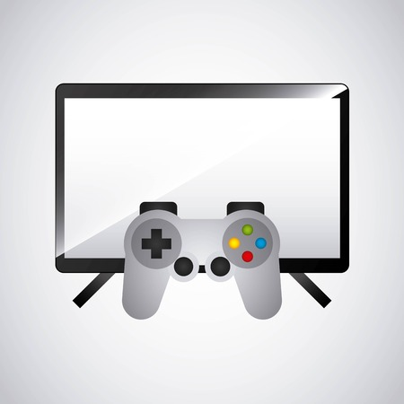 gameplay: video game control and display vector illustration design Illustration