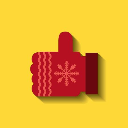 woolen: woolen glove christmas icon vector illustration design