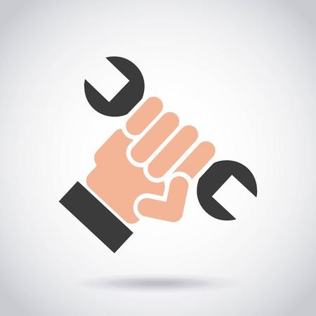 repair service wrench tool vector illustration design