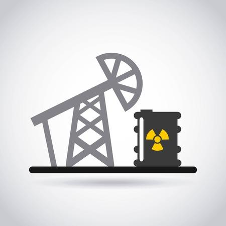 radioactive warning symbol: atomic nuclear industry icon vector illustration design