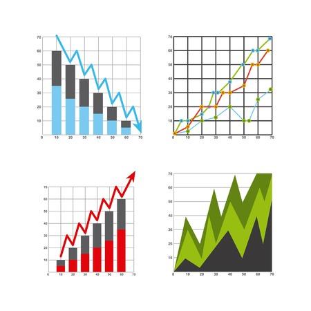 growth in economy: growth economy statistics icons vector illustration design