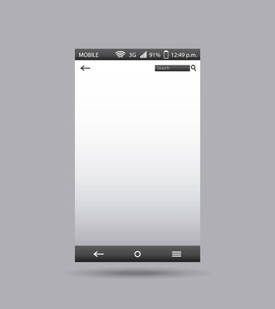 display: template display smartphone icon vector illustration design Illustration