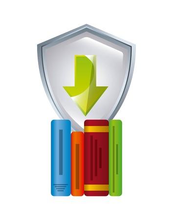 e magazine: electronic book education icon vector illustration design