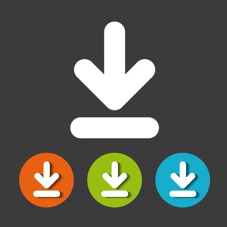 arrow download file icon vector illustration design