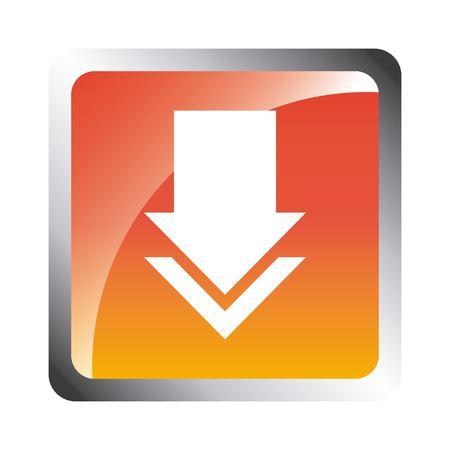 page down: arrow download file icon vector illustration design