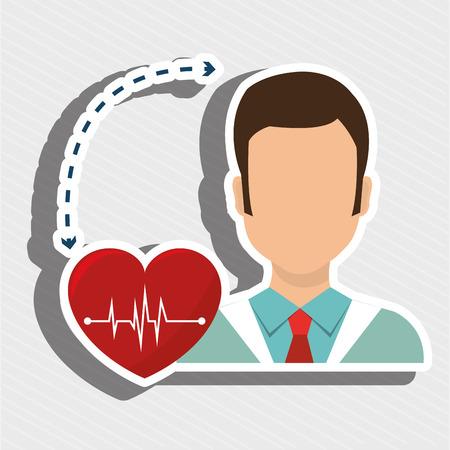 heath: doctor heath service Illustration