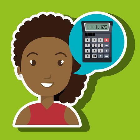 contaduria: ilustración vectorial informe de pago de impuestos de la mujer Vectores