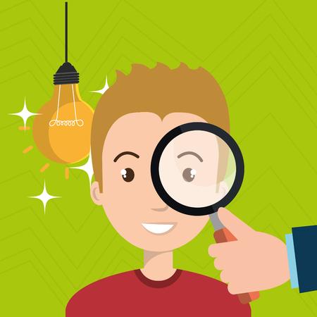 man search idea think vector illustration