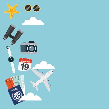 holiday vacation: enjoy vacations with travel icon vector illustration design