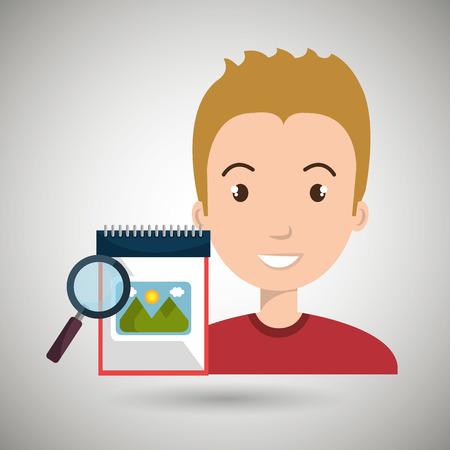 using senses: man images album search vector illustration esp 10 Illustration