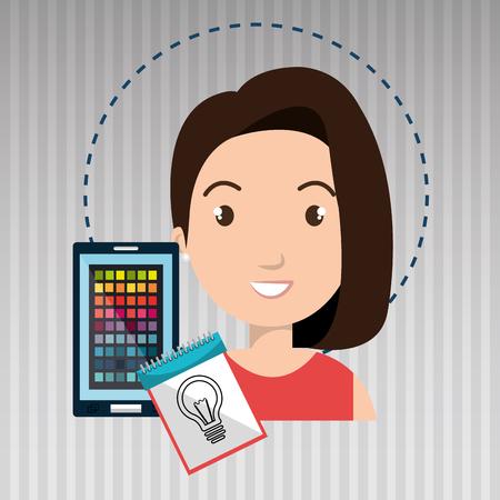 color chart: man smartphone color chart idea