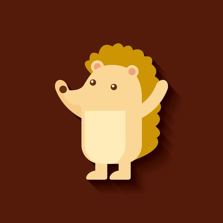 porcupine: tender cute card porcupine icon vector illustration design