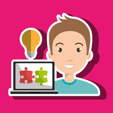 creative: man laptop creative innovation