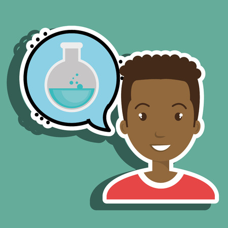 creating: man thinking creating bubble vector illustration eps 10