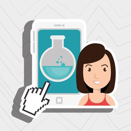 creating: woman thinking creating bubble vector illustration eps 10