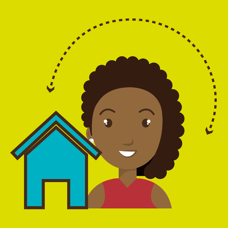woman home page web vector illustration eps 10 Illustration