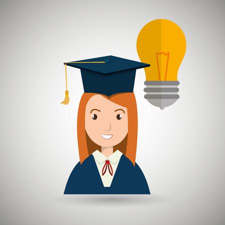 student woman graduation education vector illustration eps 10 Illustration