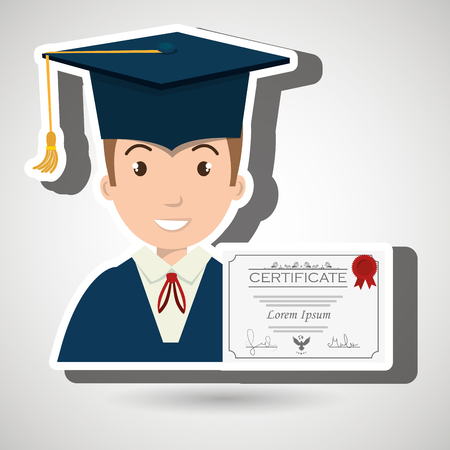 student woman graduation education vector illustration eps 10 Illustration