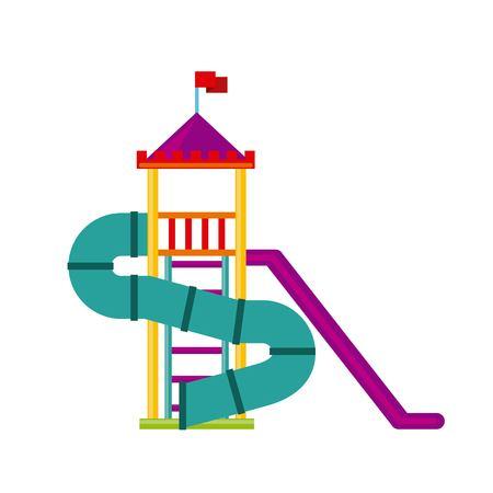 escuela infantil: bellos hijos Icono del patio de la ilustración vectorial de diseño Vectores