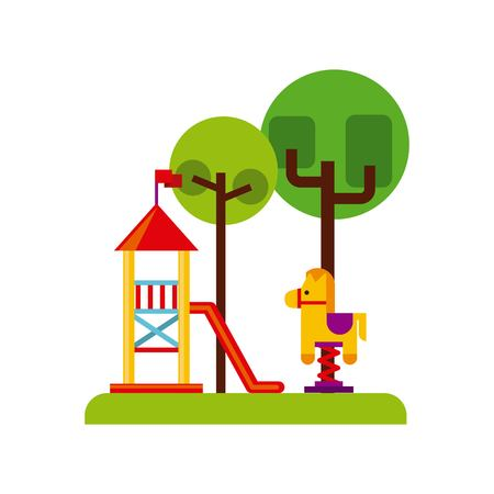 beautiful children playground icon vector illustration design Illustration