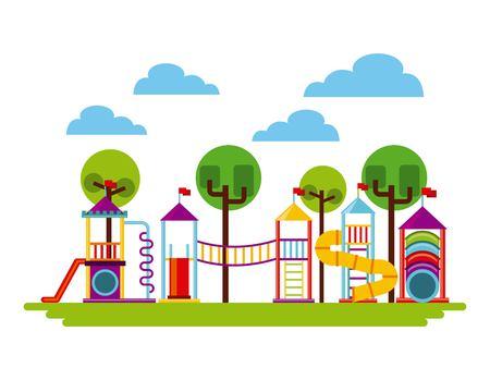 beautiful children playground icon vector illustration design Vectores