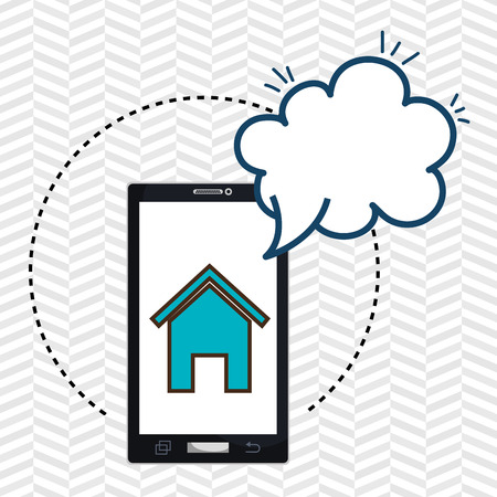 home page: smartphone cloud home page vector illustration eps 10