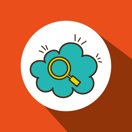 relevance: search cloud find tool vector illustration eps 10