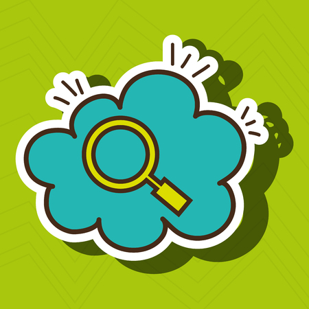 search cloud find tool vector illustration eps 10