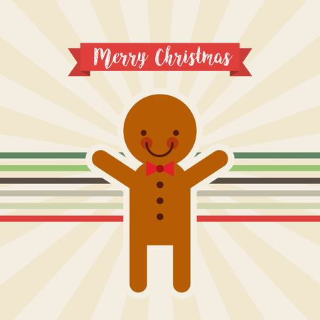 galleta de jengibre: feliz navidad galletas de jengibre ilustración del vector del carácter feliz diseño