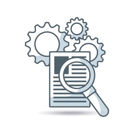 Business-Set Linie Icons Vektor-Illustration Design