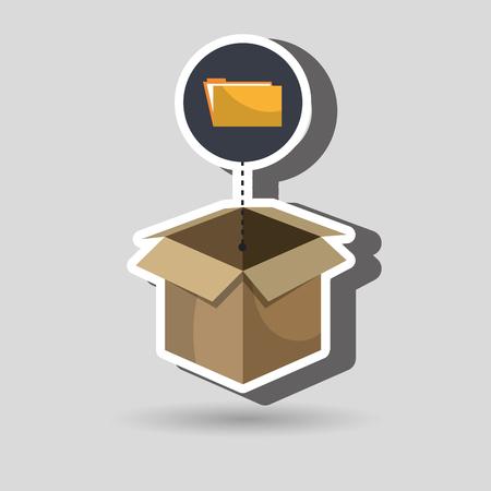 organize: box folder files organize vector illustration