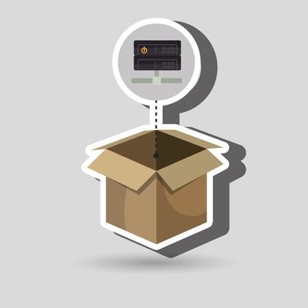 box data base hardware vector illustration