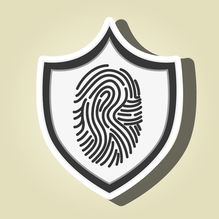 finger print: symbol finger print data vector illustration Illustration
