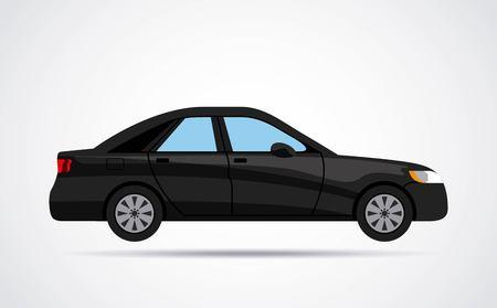 car isolated: car vehicle black isolated vector illustration design Illustration