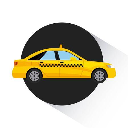 servicio de taxi transporte público ilustración vectorial de diseño