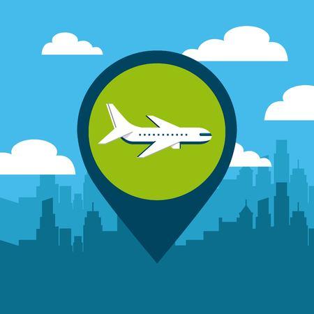 pin location conveyance icon vector illustration design