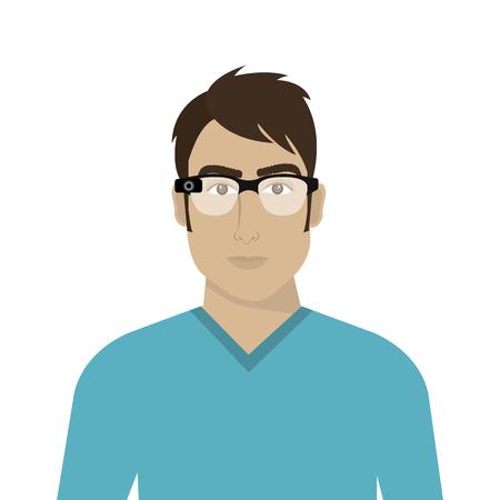 eyewear: vision glasses lens optical accessory eyewear. vector illustration