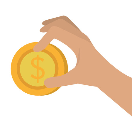 financial item: gold coin with money symbol. economy financial item. vector illustration